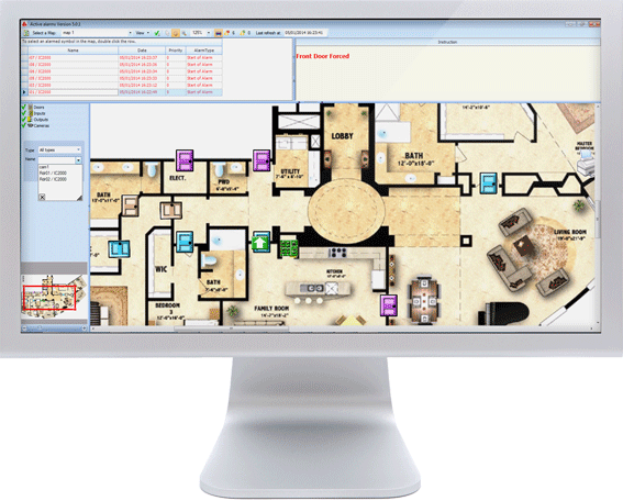 Floor Plan in GuardPointPro
