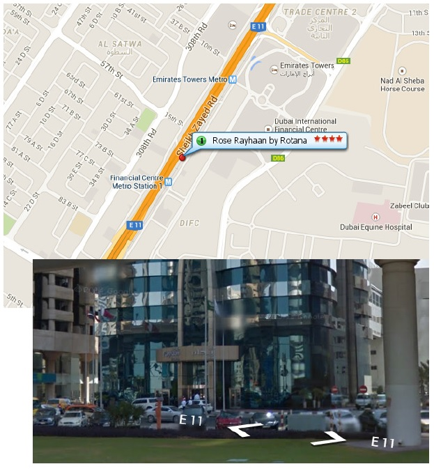 Google maps print screen of the Dubai training location