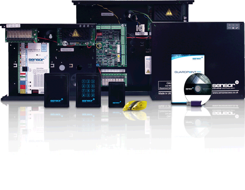 GuardPointPro product range: readers, controllers, proximity cards