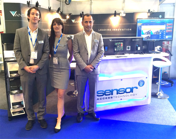 Image of Rob (Left), Rachel (middle) and Ahmed (right) from Sensor access at IFSEC 2016