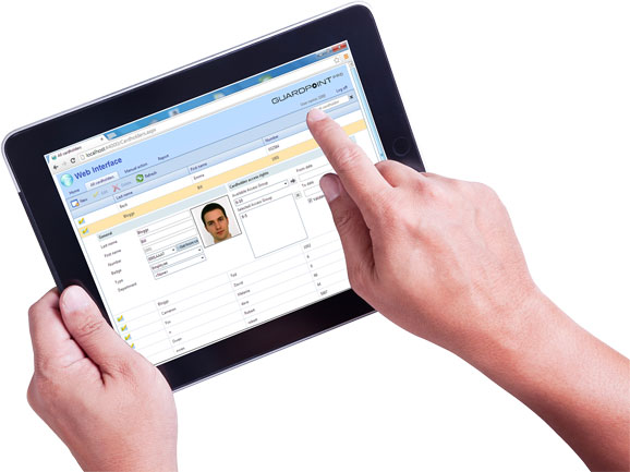 web interface for GuardPointpro access control software
