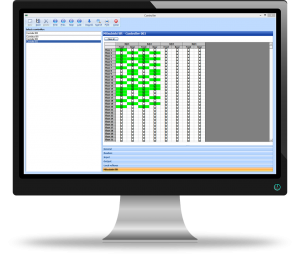 Image of a computer displaying the GuardPoint Pro software that is compatible with Mitsubishi software