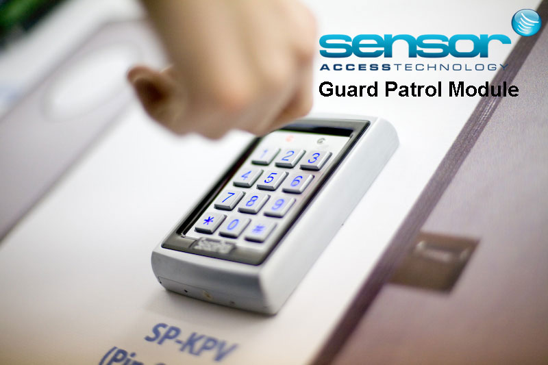 Image of a Sensor reader being swiped to represent the Guard Tour and Patrol module